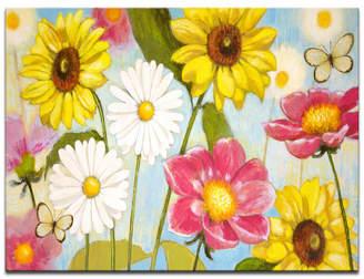 "Ready2HangArt 'Wonderful Day' Floral Canvas Wall Art - 30"" x 40"""