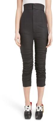 Women's Jacquemus Ruched Cigarette Pants $530 thestylecure.com