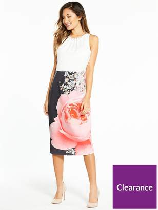 Ted Baker Rubelle Blenheim Palace Ruched Bodycon Dress - White/Print