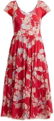 Athena PROCOPIOU Heartbeats floral-print midi-dress