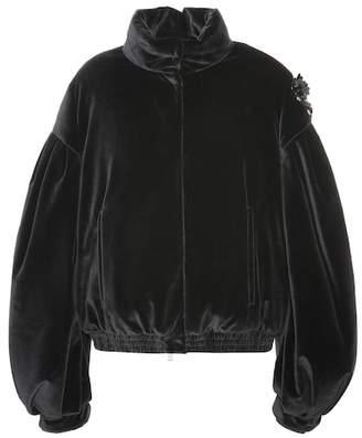 Simone Rocha Moncler Genius 4 MONCLER velvet down jacket