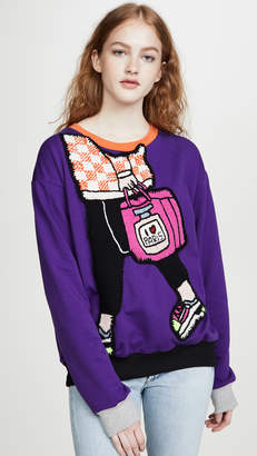 Michaela Buerger I Love Paris Carryall Sweatshirt