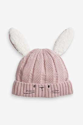 Next Girls Lilac Knitted Bunny Hat (0mths-2yrs) - Purple