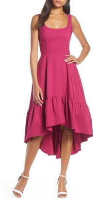 Mark & James by Badgley Mischka by Badgley Mischka Mark & James Badgley Mischka High/Low Ruffle Hem Dress