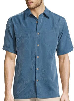 HAVANERA Havanera Short Sleeve Floral Jacquard Shirt