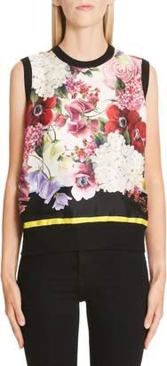 Dolce & Gabbana Floral Print Silk Shell