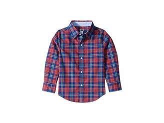 Janie and Jack Plaid Button Up-Top (Toddler/Little Kids/Big Kids)