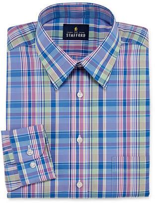 STAFFORD Stafford Travel Performance Super Shirt Big And Tall Long Sleeve Broadcloth Stripe Dress Shirt