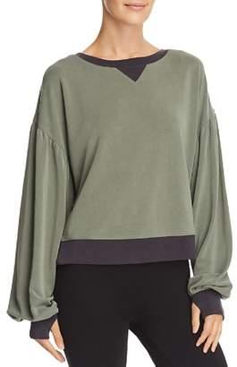 Blanc Noir Amour Balloon-Sleeve Sweatshirt