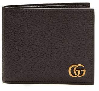 Gucci Gg Marmont Leather Bi Fold Wallet - Mens - Brown