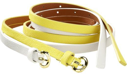 Old Navy Women's Faux-Leather Skinny Belts
