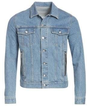 Balmain Men's Embroidered Denim Jacket - Indigo - Size 50 (40)