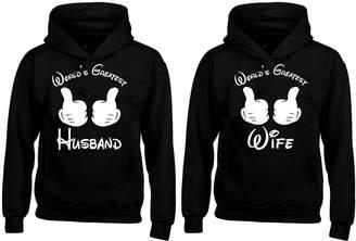 a1d363ba21 YSM Couple Hoodie - World's Greatest Husband & Wife - Matching Hoodies Man  XL - Woma
