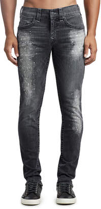 True Religion MENS PAINT SPLATTER SKINNY JEAN