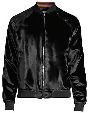 Paul Smith Men's Crushed Velvet Bomber Jacket