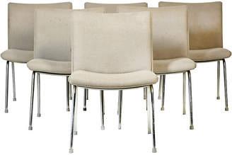 One Kings Lane Vintage Airport Chairs by Hans J. Wegner - Set of 6