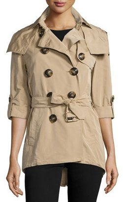 Burberry Knightsdale Hooded Relaxed Trenchcoat, Honey $895 thestylecure.com