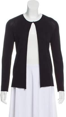 Chanel Long Sleeve Rib Knit Cardigan