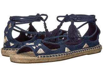 Soludos Embroidered Tie Up Women's Sandals