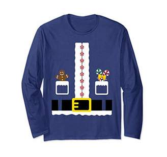 Santa Clause Outfit Christmas Costume Gift Long Sleeve Shirt