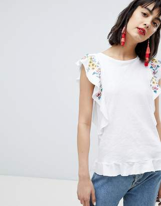 Esprit Embroidered Edge Tee