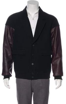 Alexander Wang Leather-Trimmed Notch-Lapel Jacket