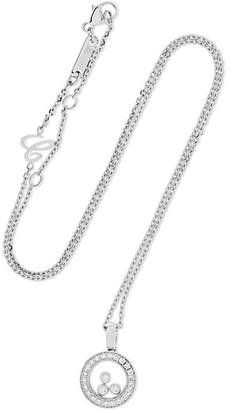 Chopard Happy Diamonds 18-karat White Gold Diamond Necklace