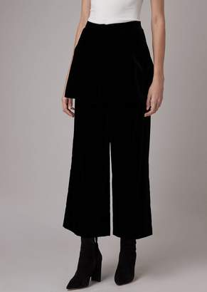 Giorgio Armani Cropped Velvet Pants With Basque On The Sides