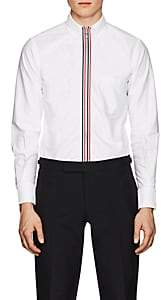 Thom Browne Men's Cotton Zip-Front Shirt-White