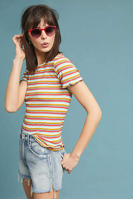 Maeve Ribbed Stripe Tee