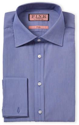Thomas Pink Stripe Classic Fit French Cuff Dress Shirt