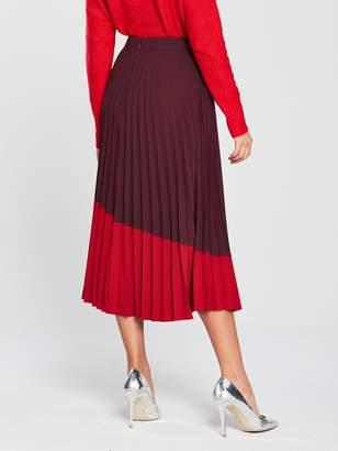 5a76c22859 Warehouse Colour Block Midi Skirt - Ruby