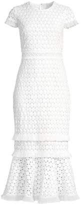 Shoshanna Floriana Ruffle Dress