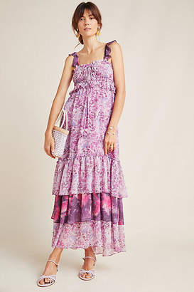 MISA Danielle Tiered Maxi Dress