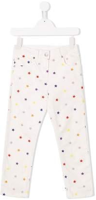 Stella McCartney star pattern jeans