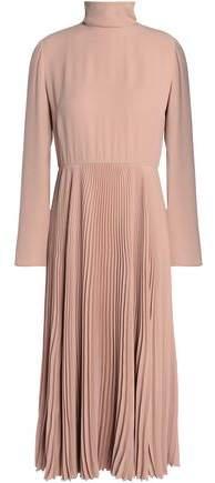 Plissé Crepe Midi Dress