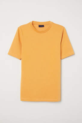H&M Ribbed T-shirt - Orange