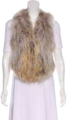 Linda Richards Fur Sleeveless Vest