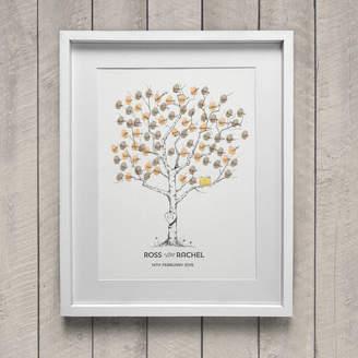 New Forest Print Birch Wedding Fingerprint Tree Guest Book