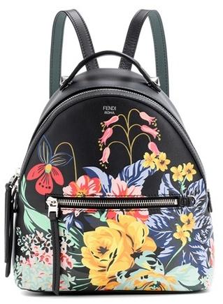Fendi Mini printed leather backpack