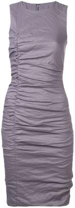 Nicole Miller fitted ruched mini dress