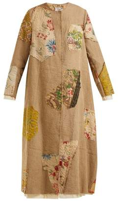 By Walid - Tari 19th Century Print Linen Coat - Womens - Beige Multi