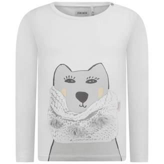 Ikks IKKSBaby Girls Ivory Animal Print Top