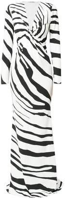 Roberto Cavalli zebra print maxi dress