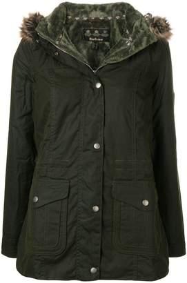 Barbour fur hood trim padded jacket
