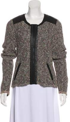 Rag & Bone Leather-Trimmed Bouclé Jacket