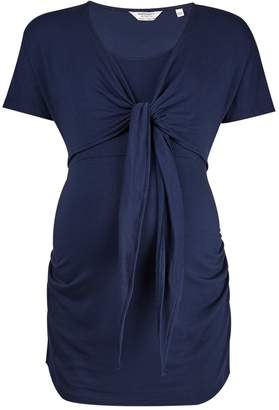 Dorothy Perkins Womens **Maternity Navy Ballet Wrap Top