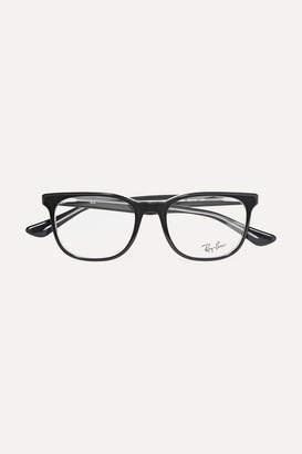 Ray-Ban Square-frame Acetate Optical Glasses - Black
