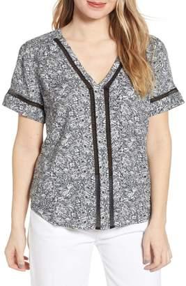 Hinge Pullover V-Neck Blouse