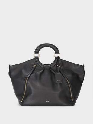 DKNY Pebbled Leather Top Handle Large Tote